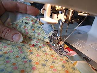 Girlie Bag sewing ribbon casing
