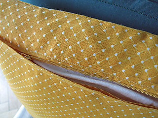 Yellow Pillow Open Zip