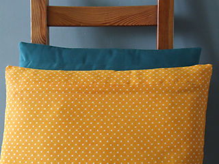 Green and Yellow Pillow Zips