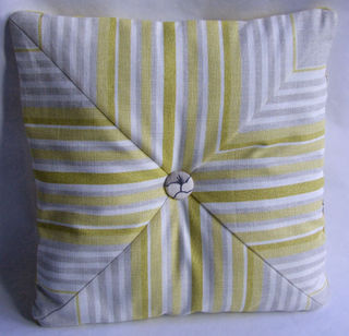 Striped side of pillow