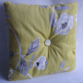Floral side of pillow